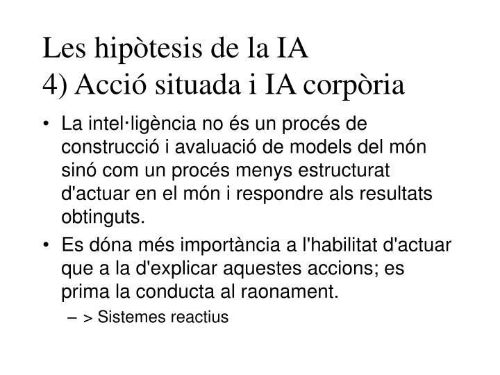Les hipòtesis de la IA