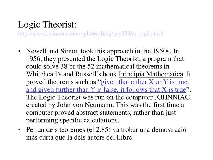 Logic Theorist: