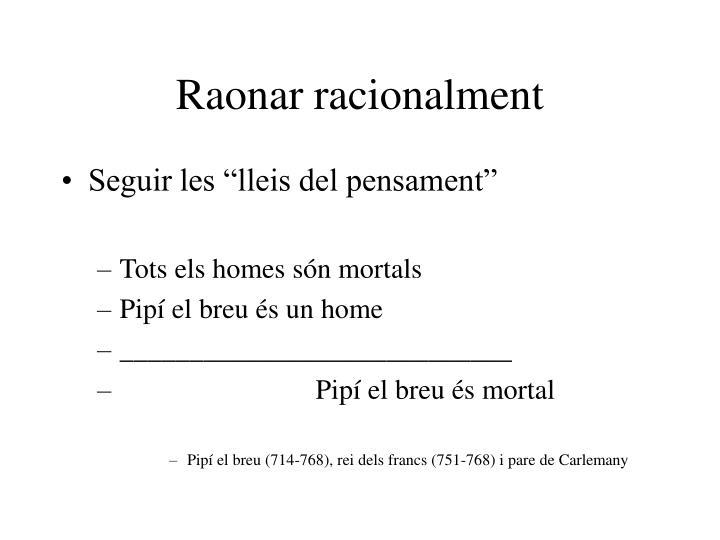 Raonar racionalment