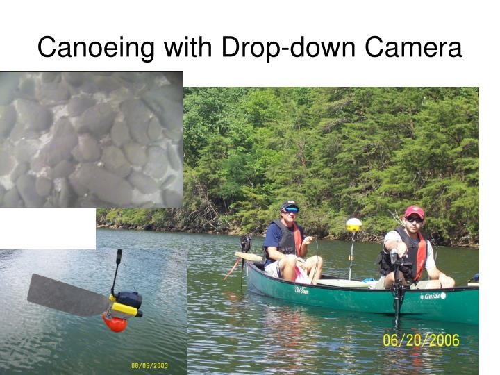 Canoeing with Drop-down Camera