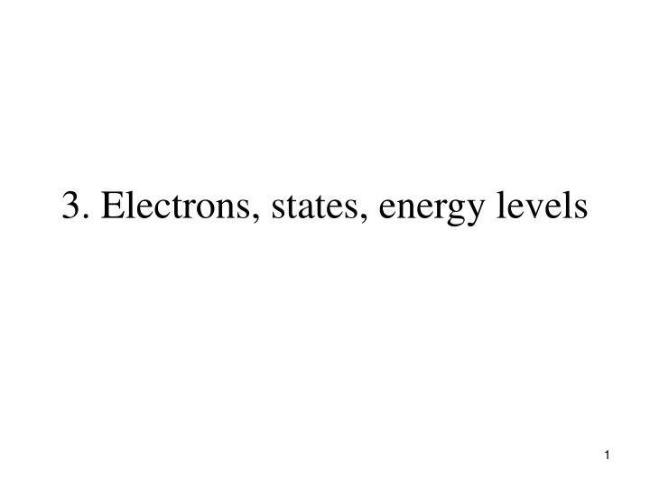 3 electrons states energy levels n.