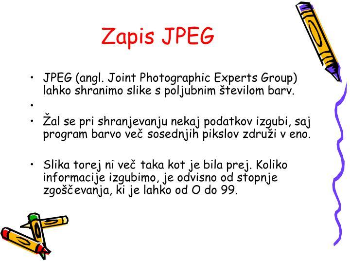 Zapis JPEG