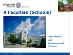 9 faculties schools