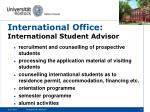 international office international student advisor