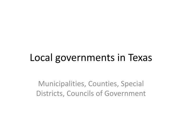 local governments in texas n.