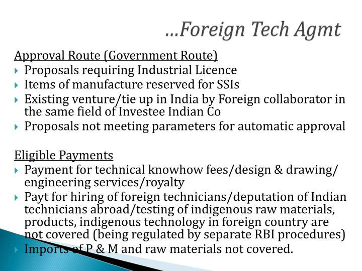foreign and technical collaborations