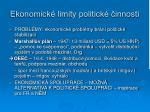 ekonomick limity politick innosti