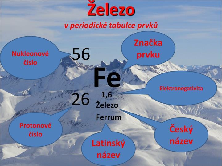 Elezo v periodick tabulce prvk