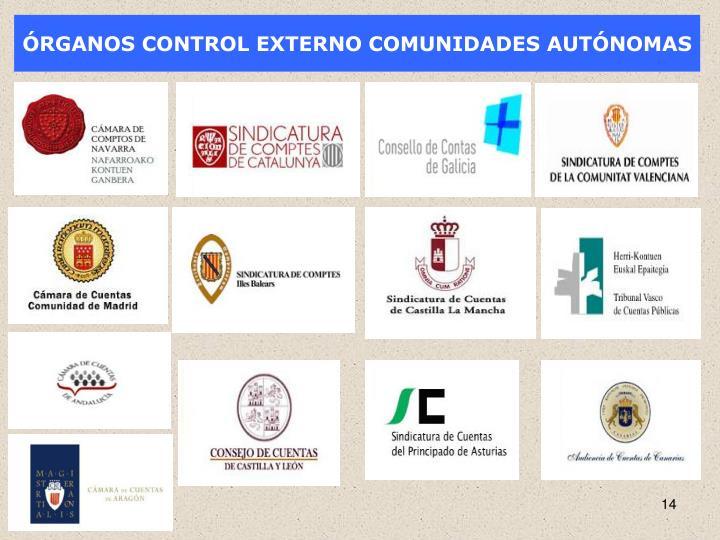 ÓRGANOS CONTROL EXTERNO COMUNIDADES AUTÓNOMAS