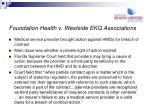 foundation health v westside ekg associations
