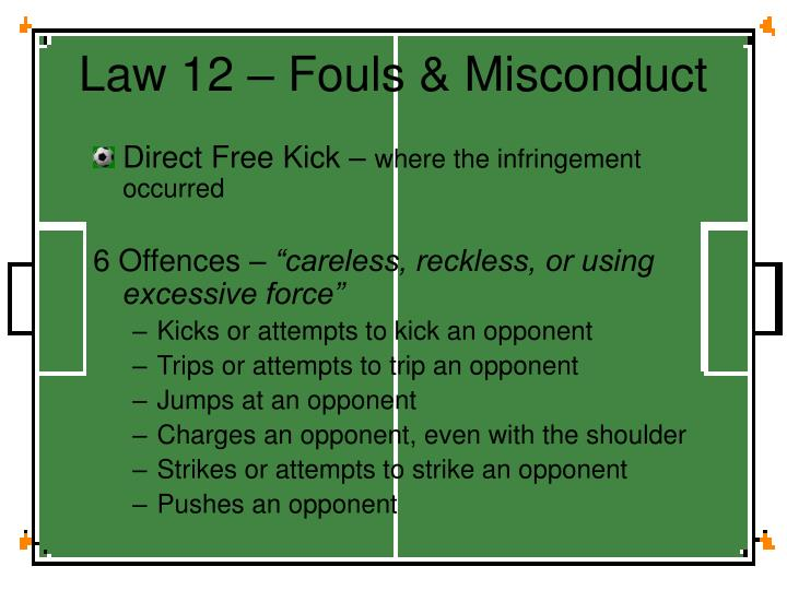 Law 12 – Fouls & Misconduct