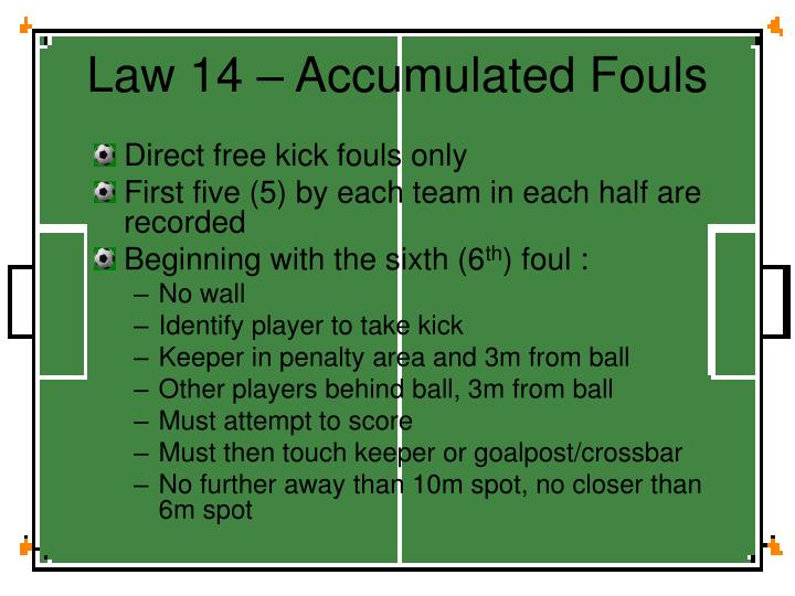 Law 14 – Accumulated Fouls