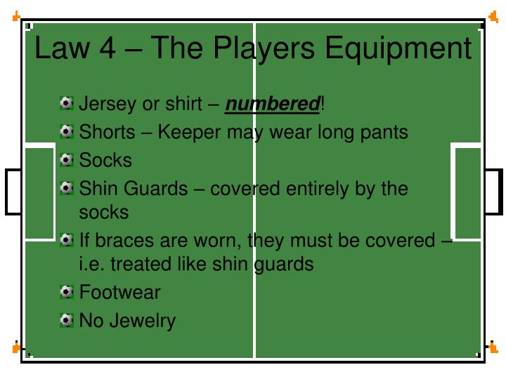 Law 4 – The Players Equipment