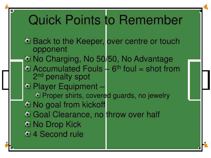 Quick Points to Remember