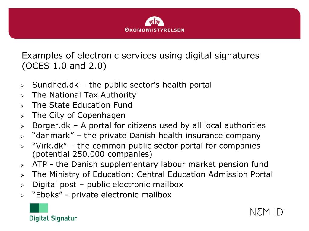 PPT - Digital signatures in Denmark OCES 2 0 PowerPoint