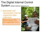 the digital internal control system allows internal inspectors to