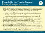 brownfields job training program history background continued2