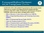 environmental workforce development and job training grants overview