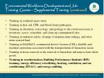 environmental workforce development and job training grants supplemental training continued2