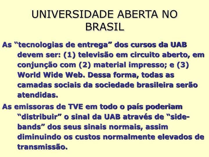 UNIVERSIDADE ABERTA NO BRASIL