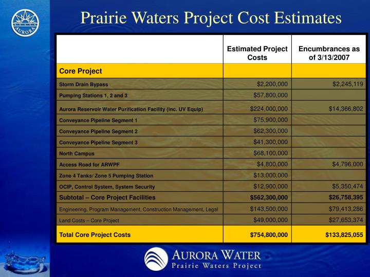 prairie waters project We will take a tour of the binney water purification facility which was we will get an overview of the prairie waters project as well tour of the prairie waters.