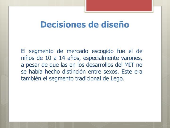 Decisiones de diseño