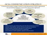 ocia communication strategy