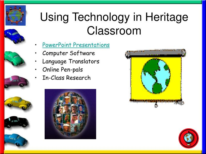 Using Technology in Heritage Classroom