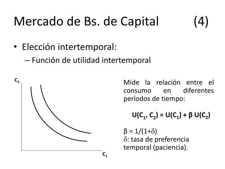 Mercado de Bs. de Capital(4)