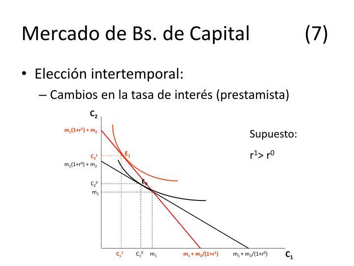Mercado de Bs. de Capital(7)