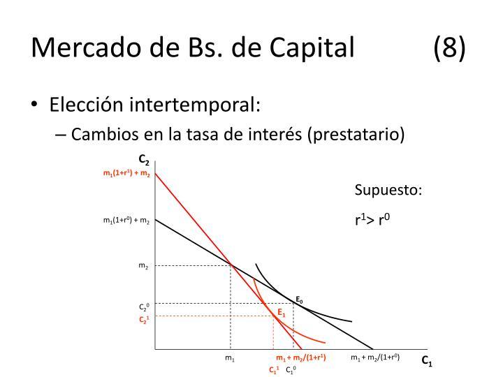 Mercado de Bs. de Capital(8)