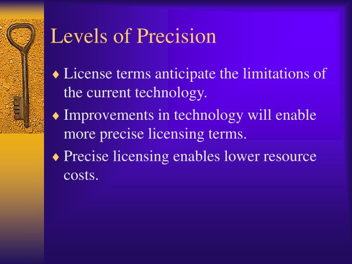 Levels of Precision