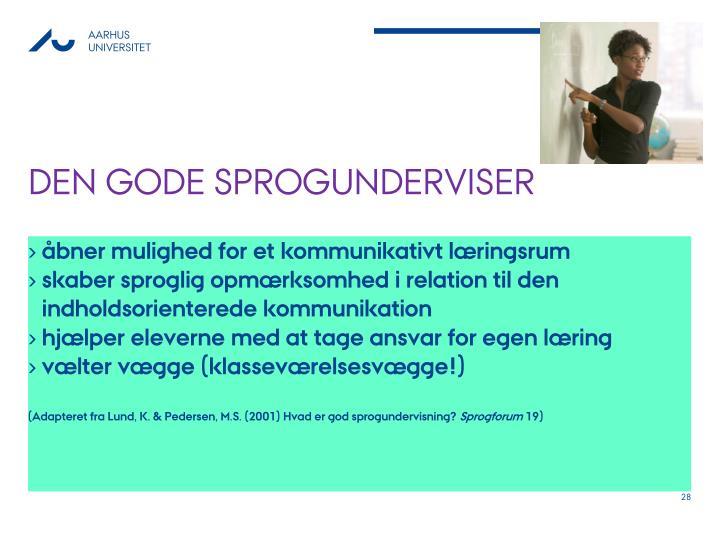 Den gode sprogunderviser