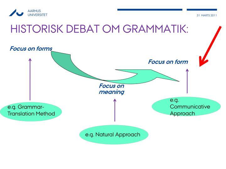 Historisk debat om grammatik: