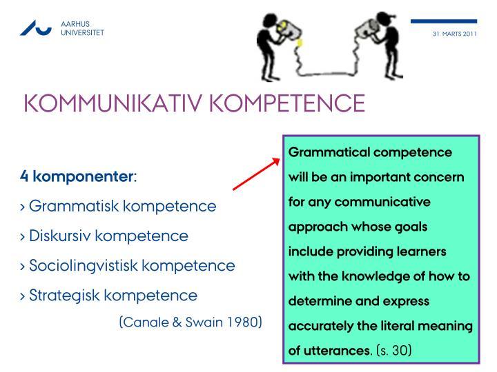 Kommunikativ kompetence