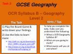 ocr syllabus b geography level 2