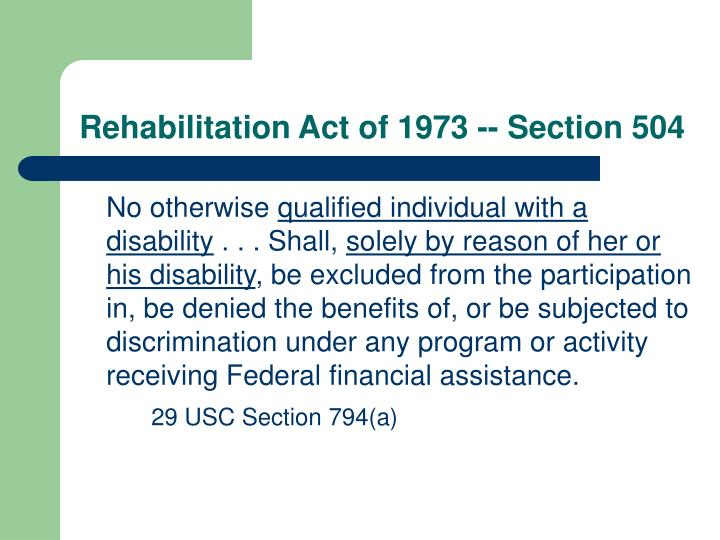 PPT - Nondiscrimination Laws Applicable to Public Education ...