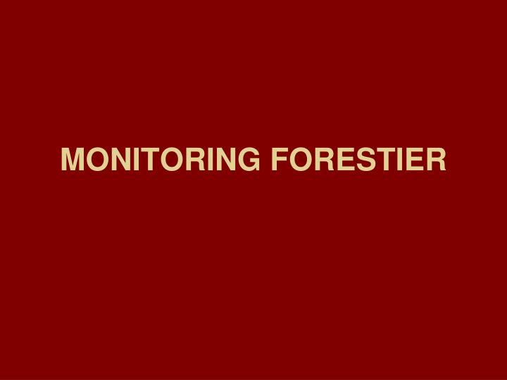 monitoring forestier