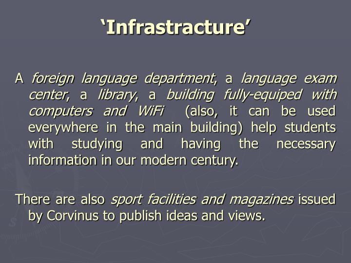 'Infrastracture'