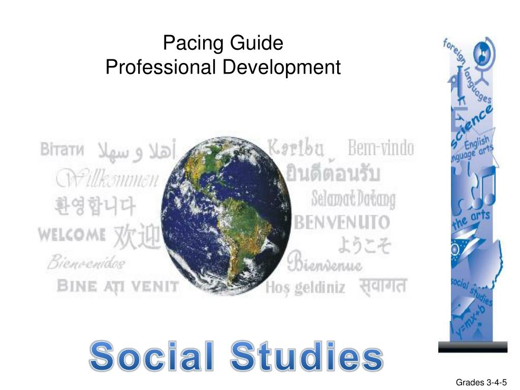PPT - Pacing Guide Professional Development PowerPoint Presentation