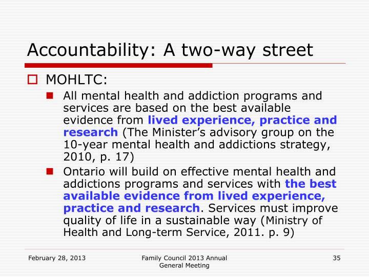 Accountability: A two-way street
