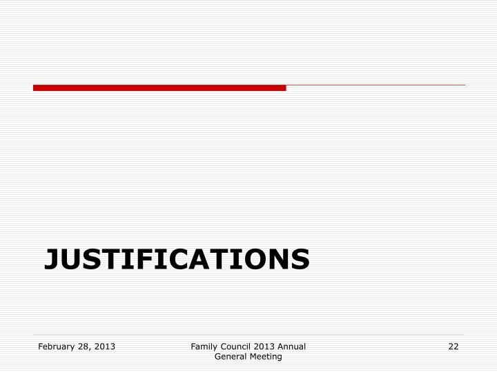 Justifications