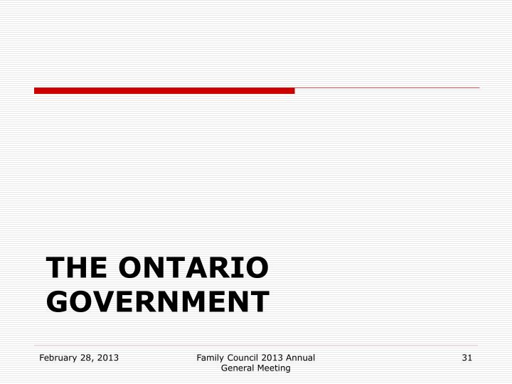 The Ontario government