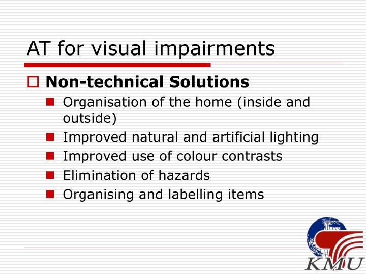 AT for visual impairments