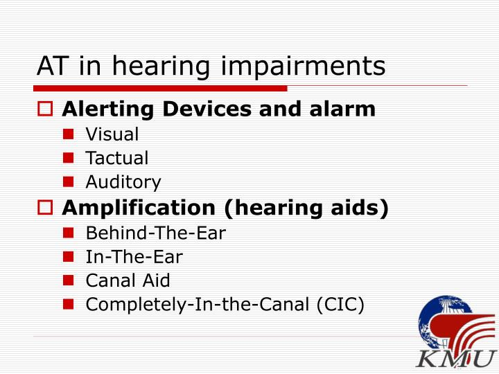 AT in hearing impairments