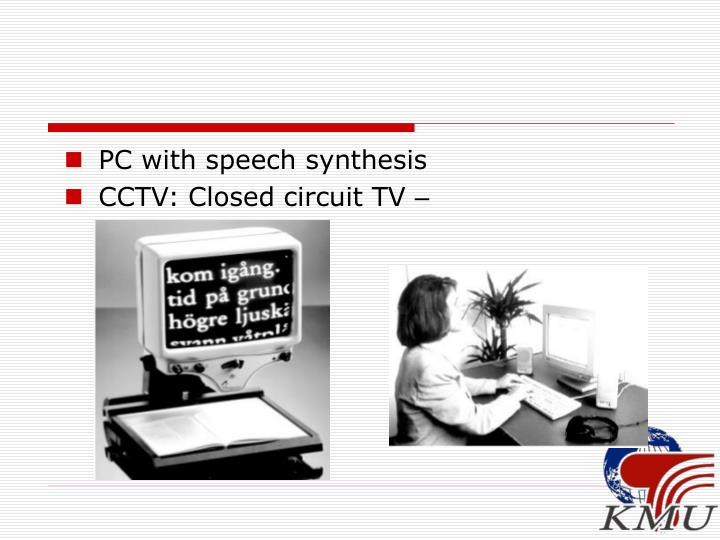 PC with speech synthesis