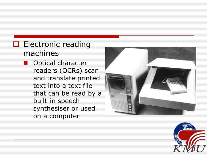 Electronic reading machines