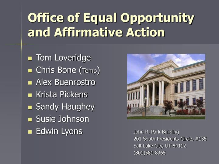 office of equal opportunity and affirmative action n.