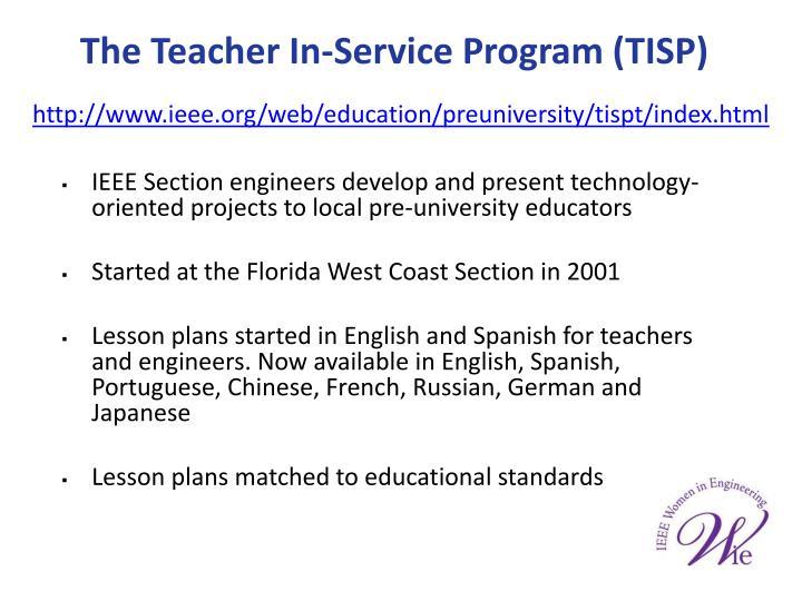 The Teacher In-Service Program (TISP)