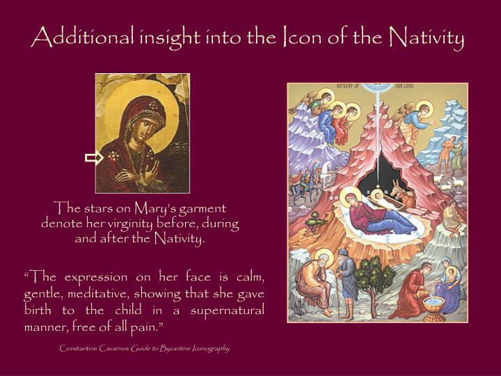 Additional insight into the Icon of the Nativity